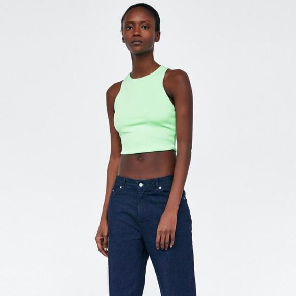 Zara Tops - Zara Green Cropped Top